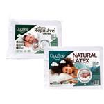 Kit Travesseiro Látex Altura Regulável 50x70cm e Travesseiro Natural Látex Alto 50X70cm - Duoflex