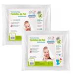 Kit 2 Travesseiros Baby Favinhos de Mel Antissufocante Lavável Fibrasca Z4941
