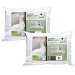 Kit 2 Travesseiros Ecopluma Pluma Sintética Lavável Fibrasca 4355