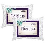 Kit Travesseiros Floral 140 Fios 02 Peças Estampado - Ortobom