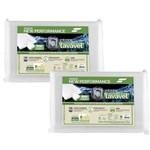 Kit 2 Travesseiros Látex Fibrasca Antiácaro Lavável Sintético Eucaliptus