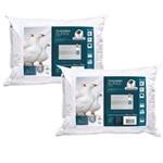 Kit 2 Travesseiros Plumax Lavável Pluma Sintética Fibrasca 4235