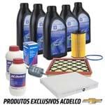 Kit Troca de Óleo Filtros Fluido Freio Ecotec 1.8 16v Ar Kit233 Cruze