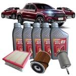 Kit Troca de Óleo Selenia K Pure Energy 5w30 e Filtros - Fiat Toro 1.8 16v Flex