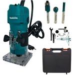 Kit Tupia 530 Watts - 3709 +Conjunto de Fresas C/3 Peças- D-16461 -Makita+Maleta