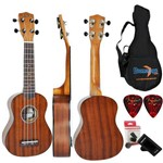 Kit Ukulele Soprano Acústico Uk-06s Mg Mogno Fosco Strinberg
