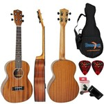 Kit Ukulele Tenor Acústico Uk-06t Mg Mogno Fosco Strinberg Completo