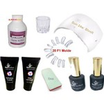 Kit Unhas F1 Gel Acrilico Led Uv Cabine Sun 24w Monomer Poligel