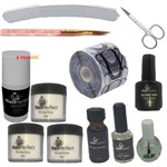 Kit Unhas Porcelana Acrilico Prep Bond Primer Topcoat Molde