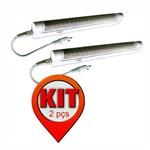 Kit 2 Unidades - Luminária de Sobrepor com 40 Leds Brancos - Dni 6941