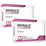 Kit 2 Unids Emagrecedor Monaliz - Meu Controle - 30 Comprimidos 1g - Sanibrás