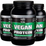 Kit 3 Vegan Protein Chocolate 900g Proteína Vegetal Unilife