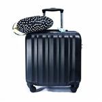 Kit Viagem Executiva com Mala de Bordo , Identificador de Bagagem e Almofada de Pescoço Poá Yins