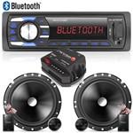 Radio Mp3 Bluetooth Multilaser USB + Kit 2 Vias 6 Pioneer + Módulo Stetsom