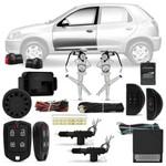 Kit Vidro Elétrico Celta 02 a 15 Prisma 06 a 12 Sensorizado + Alarme Pósitron e Trava Elétrica