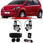 Kit Vidro Elétrico Sensorizado Volkswagen Up! 2014 2015 2016 4 Portas Traseiro