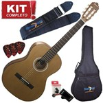 Kit Violão Acústico Nylon GN17 Cdr Cedar Top Cordas Natural Fosco Giannini Completo