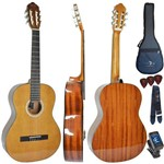Kit Violão Acústico Nylon Gn17 Cdr Cedar Top Natural Giannini Completo
