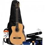 Kit Violão Canhoto Eletroacústico Sc25c Natural Strinberg + Acessórios