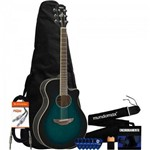Kit Violão Elétrico Aço Apx600 Oriental Blue Burst Yamaha + Acessórios