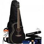 Kit Violão Eletroacústico Aço Apx600 Preto Yamaha + Acessórios