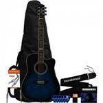 Kit Violão Eletroacústico Gf-1d Dark Blueburst + Acessórios