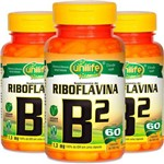 Kit 3 Vitamina B2 Riboflavina Unilife 60 Cápsulas