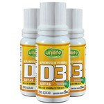 Kit 3 Vitamina D3 Unilife em Gotas Sabor Menta 20ml