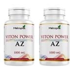 Kit 2 Viton Power Suplemento de Vitaminas e Minerais de Az 200 Cápsulas Melcoprol