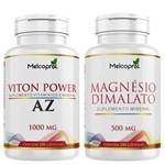 Kit Viton Power Suplemento de Vitaminas e Minerais de Az + Magnésio Dimalato Melcoprol