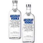 Kit Vodka Absolut 1L - 2 Unidades