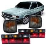 Kit Volkswagen Gol Quadrado G1 1991 1992 1993 1994 1995 1996 Lanterna Traseira Fumê + Par Pisca Seta Modelo Arteb