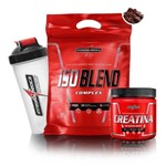 Kit Volume Muscular Whey Iso Blend Refil + Creatina Hardcore + Coq + IntegralMedica