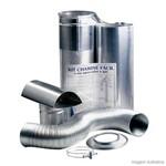 Kit Westaflex Chaminé Fácil para Aquecedor De' Água 1,5 Metro 60x370 em Alumínio