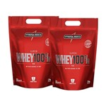 Kit 2 Whey 100% Pure Wey 1,8kg Integralmedica