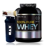 Kit Whey 100% Pure Whey 2kg + Gold Bar + Coqueteleira