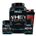 Kit Whey Chocolate + Bcaa + Creatina + Coq - Atlhetica