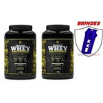 Kit 2 - Whey Concentrado 900g Iridium Labs + Coqueteleira
