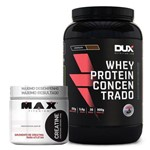 Kit Whey Concentrado Dux + Creatina 300g Max Titanium