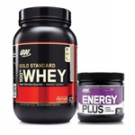 Kit Whey Gold Standard 900g Baunilha + Energy Plus