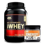 Kit Whey Gold Standard 900g + Pre Treino Energy Plus 150g