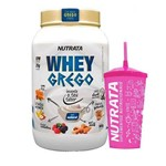Kit Whey Grego 900g Natural + Copo Pink - Nutrata