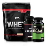 Kit Whey ON Refil + Bcaa + Creatina - Optimum Nutrition