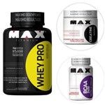 Kit Whey Pro - 1000g Vit.Fruta + Creatina 150g + BCAA 2400 60 Cáps- Max Titanium