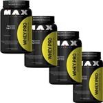 Kit Whey Pro Chocolate 1kg Max Titanium Compre 3 Leve 4