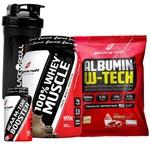 Kit Whey Protein 100% + Albumina + Bcaa Body Action