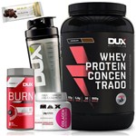 Kit Whey Protein Concentrado 900g Colagen Burn Supercut Dux
