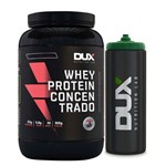 Kit Whey Protein Concentrado Morango - Dux + Squeeze Preto