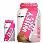 Kit Whey Protein Feminino Mulher 900g + BCAA 90 Cápsulas PRO-F BodyAction