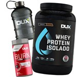Kit Whey Protein Isolado 900g + Burn Supercut + Galão - Dux